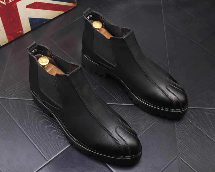 Arrivée Photo Hommes Bout Loisirs En Nouvelle Cuir Chelsea Bureau As Hiver Bottes Errfc Zapatos as Homme Photo Noir Rond Designer D'affaires Pu Chaussures Carrer jqALc354R
