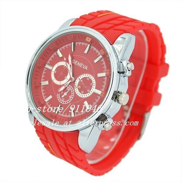 200pcs/lot Factory price  High Quality Geneva Unisex Diamond Watch Three Eye Six Pin  Watch Quartz Wristwatches 2012 New Arrival
