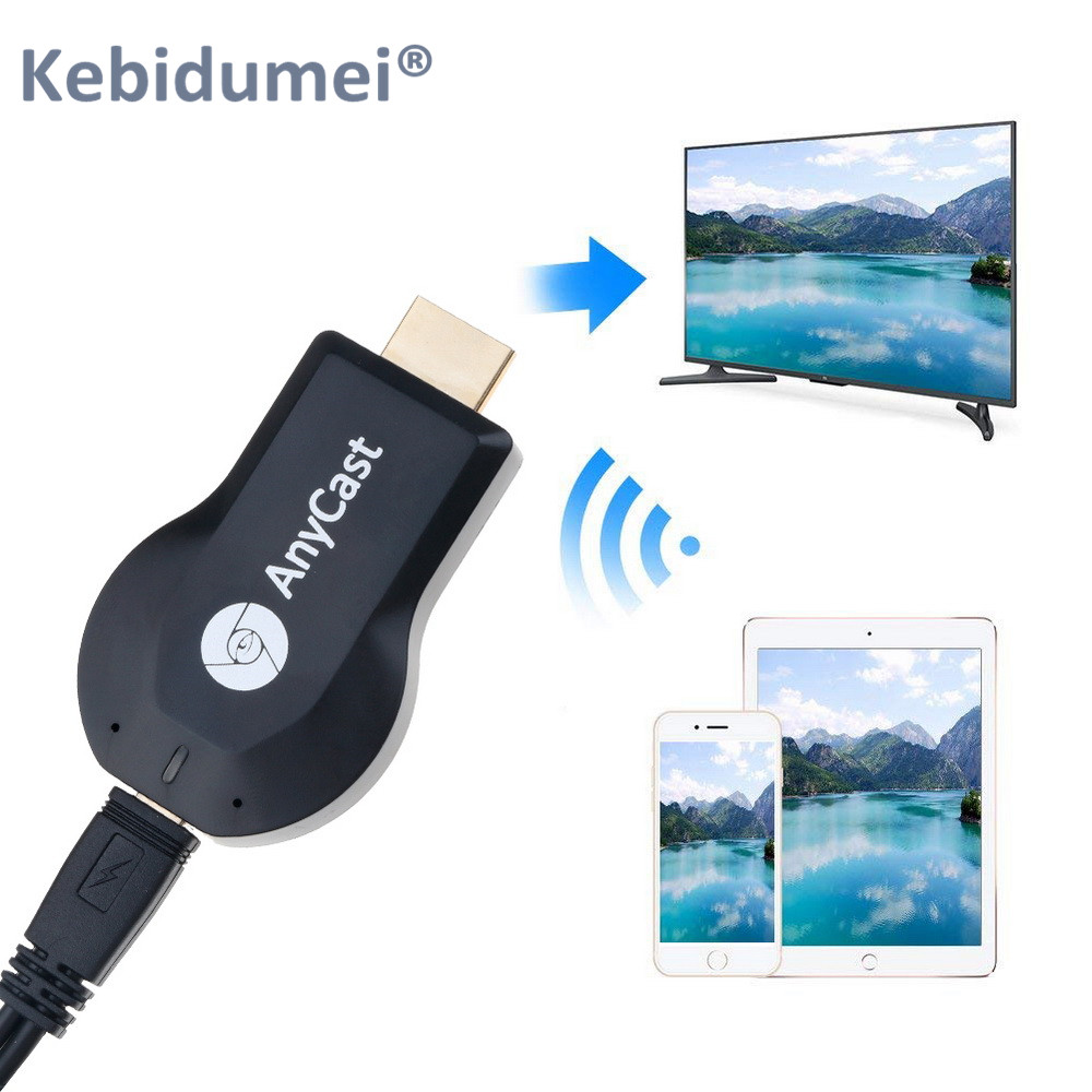 Kebidumei Wireless HDMI TV Stick AnyCast M2 WiFi Display TV Dongle Receiver Miracast For Phone Android PC(China)