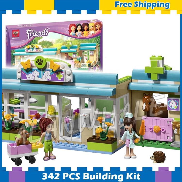 342pcs Friends Series Heartlake City Vet Mia Sophie 10169 Model House Building Blocks Children Gifts sets Compatible With lego