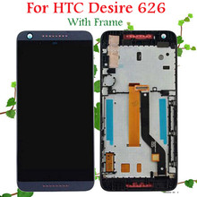 100% Warranty LCD Display Touch Screen Digitizer with Frame Assembly For HTC Desire 626 626G 626W LCD Replacement