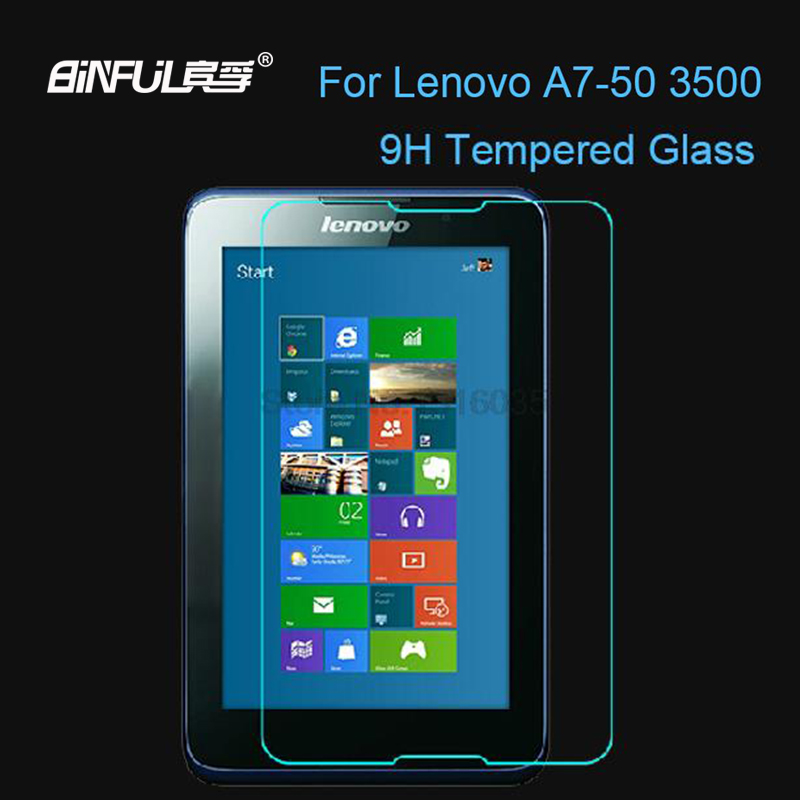 9H Anti-Shatter Tempered Glass Protector Toughened film For Lenovo A3500 A7-50 Screen Protector Protective Guard