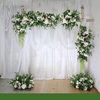 Flone настроить Свадебные белые арки Цветочная композиция цветочный набор наружное свадебное оформление витрина магазина цветы