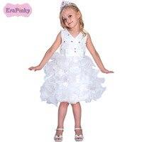 Erapinky שמלות ילדים עבור ילדי בנות בגדי תחרה נסיכת שמלת הילדה פרח הקיץ Vestidos de Graduacion נחתך שמלה