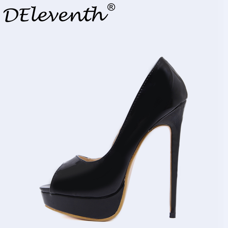 DEleventh Sexy Women Pumps High Heels Shoes Platform Peep Toe Shoes Woman High Heel Party Shoes Wedge Ladies Shoes Black Size40 nayiduyun women casual shoes low top platform wedge high heels boots round toe slip on pumps punk chic shoes black white sneaker
