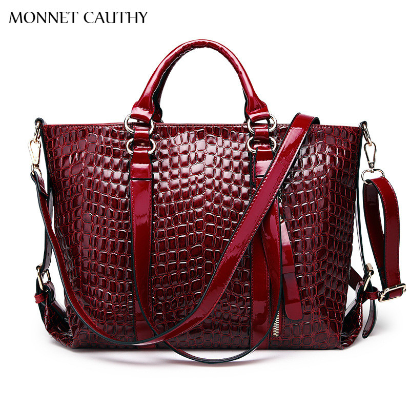 MONNET CAUTHY Women's Bag Solid Color Wine Red Black Blue Shoulder Bags New Fash