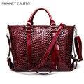 MONNET CAUTHY Women's Bag Solid Color Wine Red Black Blue Shoulder Bags New Fashion Classics Elegant Office Ladies Baguette Tote