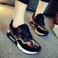 Nuevo Diseño de la Mujer Zapatillas de Deporte Zapatos de Plataforma de Mosca de la Armadura de Las Señoras Plana Zapatos de Deporte Ocasionales Respirables Zapatos tenis femenino