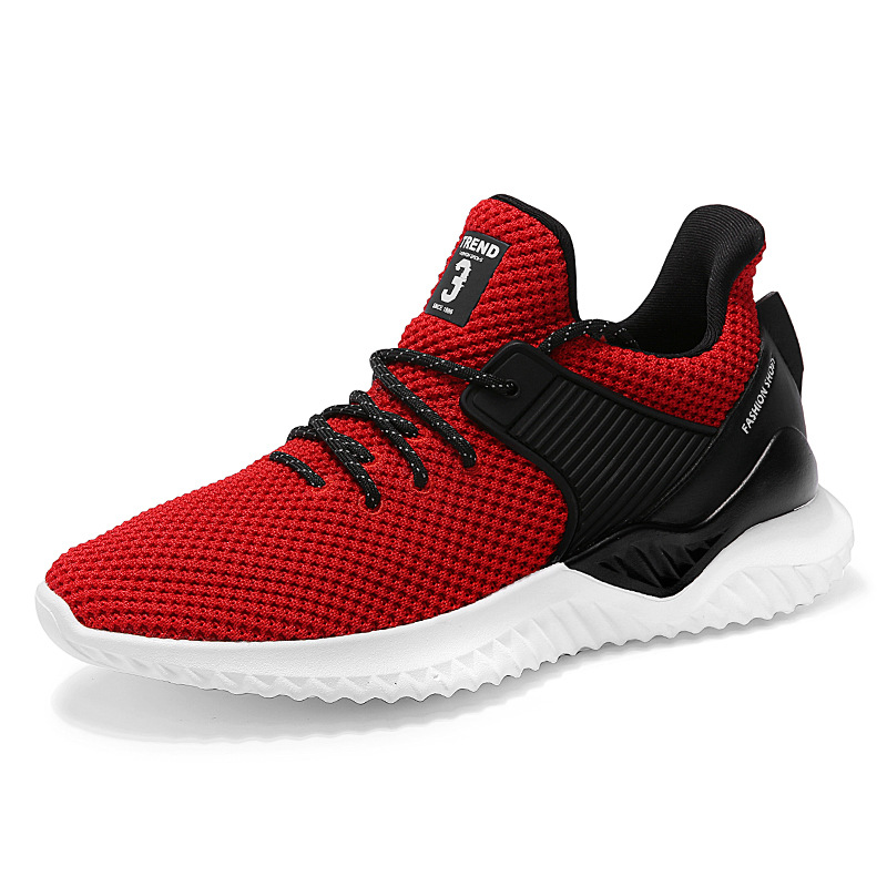 2018 Summer Flying Fabric Breathable Running Shoes Lightweight Shock Resistance Mens Sneakers Comfort Sport Shoes