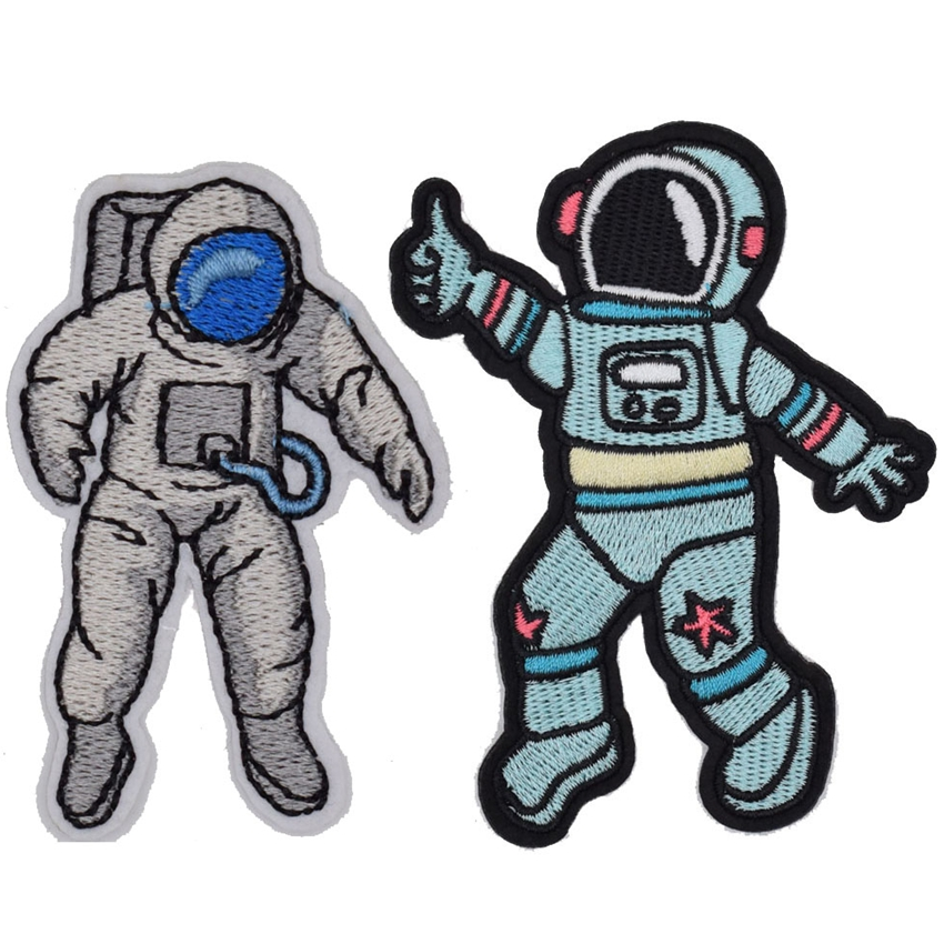 1Pcs Astronaut Spaceman Space Journey Patches Sew Iron on Embroidered Symbol Badge Cloth Sign Costume in Patches from Home Garden