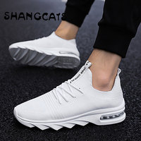 Exclusive Brand Men Casual Shoes Socks Style zapatillas hombre Men Shoes 2018 Summer Mens Shoes Casual Men Sneakers White black