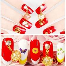 Mtssii 5pcs 3d nail jewelry decoration nails art glitter rhinestone for manicure White gem design nail accessories tools