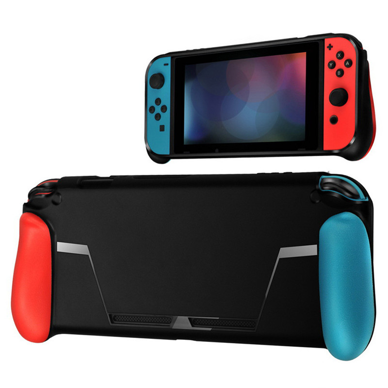 TPU Handle Grip Case Protection Kit Comfortable Soft Case with Game Card Storage Handles Tempered film for Nintend Switch GameTPU Handle Grip Case Protection Kit Comfortable Soft Case with Game Card Storage Handles Tempered film for Nintend Switch Game