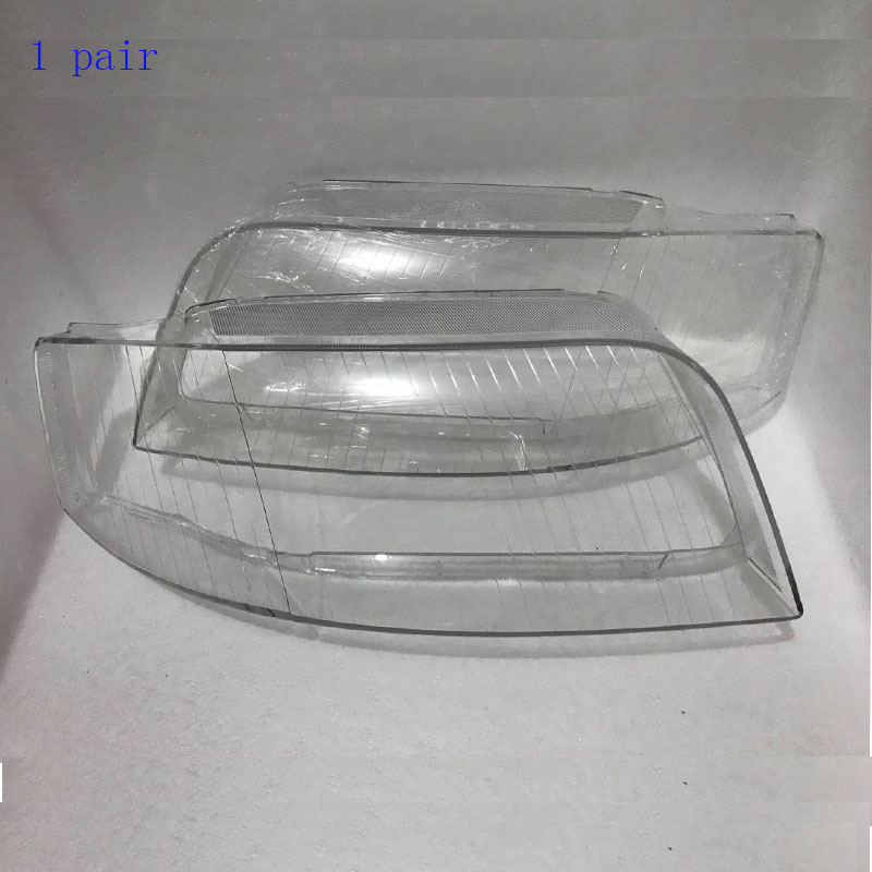 for Audi A6 C5 transparent cover mask 2003 2005 headlights headlights shell glass lamp housing lights, 1 pair-in Lamp Hoods from Automobiles & Motorcycles    1