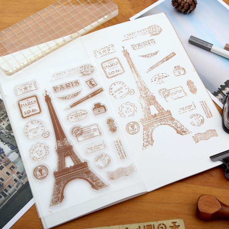 19st Stämpel Transparent Silikon Retro Ikon Rensa Stämplar För - Konst, hantverk och sömnad - Foto 1