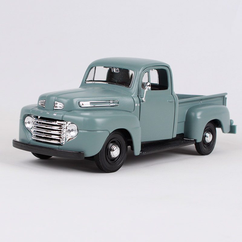 Maisto 1:25 1948 ford F-1 blue red pick-up big truck model 192*73*74mm American truck pick up vehicle diecast for ford 31935 maisto 1 24 2017 white blue silver f 150 partor pick up truck model for ford big emulation pick up car diecast for ford 31266