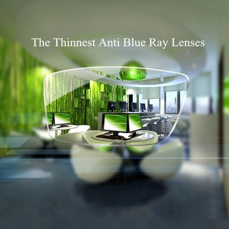 Chashma 1 74 Index Thinnest Blue Ray Block Glass Clear Color Anti Reflective Ultra Thin Prescription