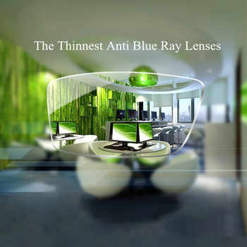 Chashma 1.74 Index Thinnest Blue Ray Block Glass Clear Color Anti Reflective Ultra Thin Prescription Lenses Top Quality Lens - DISCOUNT ITEM  12 OFF Apparel Accessories