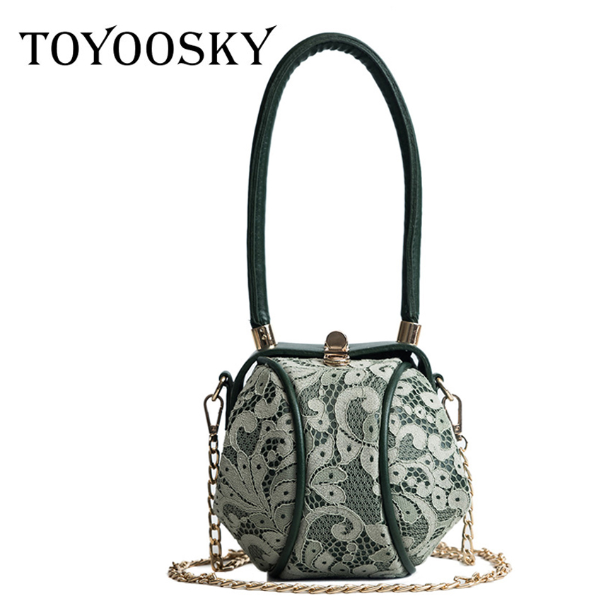27cde020bde6 TOYOOSKY Women Handbags Summer 2018 New Personalized Exquisite Lace Lantern  Bags Ladies Leisure Top handle Crossbody Bag-in Shoulder Bags from Luggage  ...