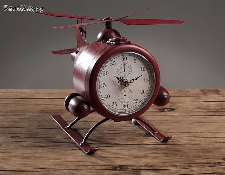 Mechanical Vintage Portable Alarm Clock Desktop Clock Home Decoration Bedside Wake Up Table Clocks for Living Room BedroomLFB103