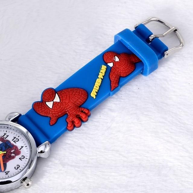 Vendita calda spiderman bambini della vigilanza orologi 3d di gomma del bambino del fumetto della vigilanza dei bambini orologi orologio montre enfant relogio infantil reloj