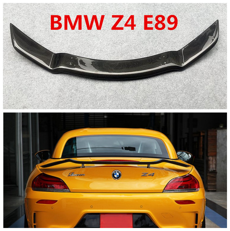 US $280 0 30% OFF|Carbon Fiber Spoiler For BMW Z4 E89  2009 2010 2011 2012 2013 2014 2015 2016 High Quality Car Rear Wing Spoilers  Auto Accessories-in