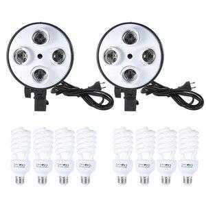 Image 4 - Cz estoque andoer estúdio foto iluminação kit com 2 * softbox 2*4in1 lâmpada soquete 8*45w lâmpada 2 * suporte de luz 1 * saco de transporte