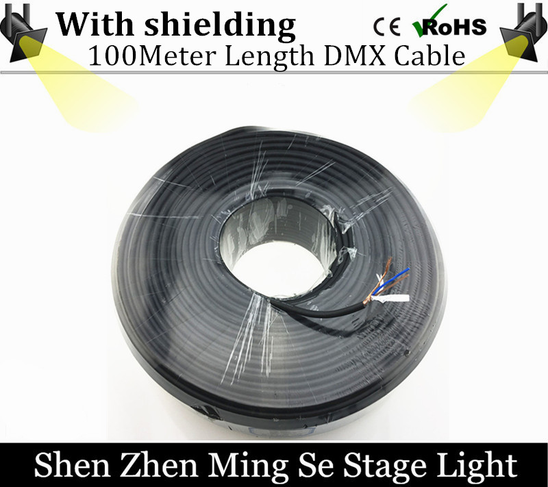 цены  100 Meters length 3-PIN XRL DMX signal line, DMX 192 controller  LED PAR stage lights dmx cable dj equipment