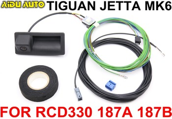 RCD330 RCD330 Plus 187A 187B MIB Radio Trunk Handle REAR VIEW CAMERA Low Camera KIT FOR VW JETTA MK6 TIGUAN