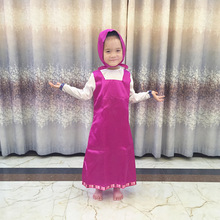 1b4f0ecf639 Baby Girls Ethnic Clothing Satin Russia Cosplay Costume Dress Hooded  Cartoon Fashion Kids Cute Clothes Children. 2 Colors Available