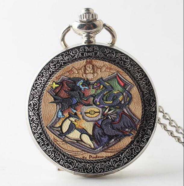 Vintage Silver Ratio Of The Cartoon Pokemon Card Mound Flip Clock Cute Necklace Pocket Watches Gift Jhgj52 Refreshing And Enriching The Saliva Pocket & Fob Watches