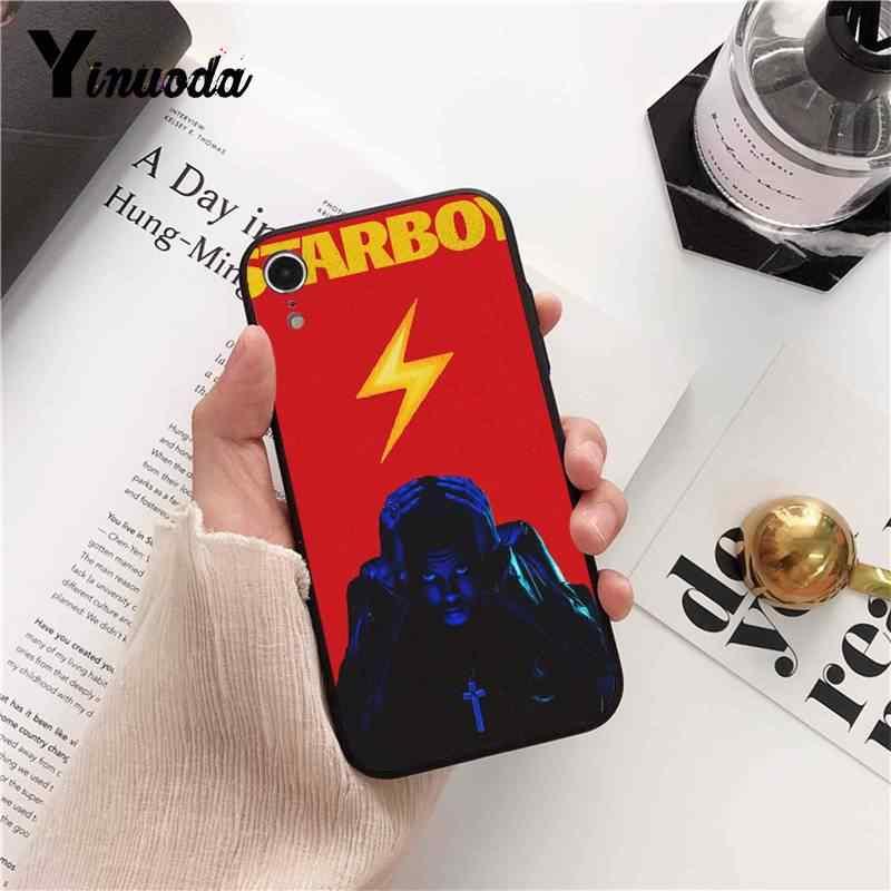 Yinuoda 2018 جديد يكند Starboy البوب المغني لطيف الهاتف حقيبة لهاتف أي فون 5 5Sx 6 7 7 زائد 8 8 زائد X XS ماكس XR 10 حالة 11 برو ماكس