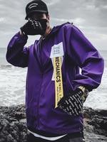 Vintage Summer Lightweight Mens Jackets Basic Hip Hop Punk Rave Anorak Jacket Streetwear Men Hip Hop Windbreaker Clothes 5J018