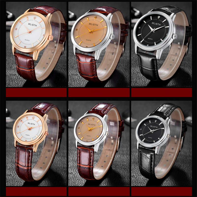 WLISTH Men Watches New Luxury Brand Ultra Thin Full Genuine Leather Clock Male 30m Waterproof Casual Sport Watch Rolex_watch in Quartz Watches from Watches