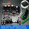 Luxury Version  HiFi ES9028PRO + MUSES 02*2 + AD797  DAC decoder Assembled board W/ Amanero iis &  XMOS USB Card