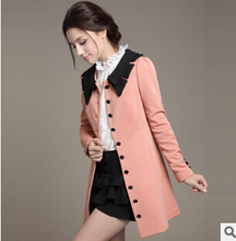 jackets women The new women s autumn and winter fashion coat Korean Slim and long sections