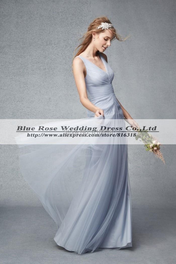 Popular silver junior bridesmaid dresses buy cheap silver for Cheap silver wedding dresses