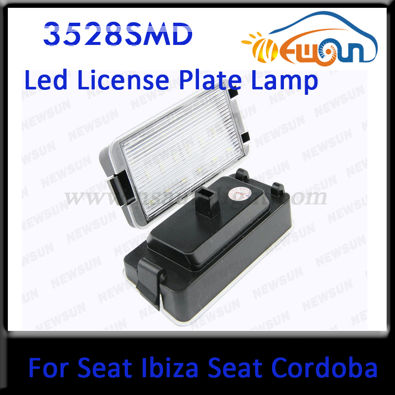 Free Shipping New Practical 12V LED Number License Plate Light Rear Lamp for SEAT Car Number license light kit for Volkswagon  цена и фото