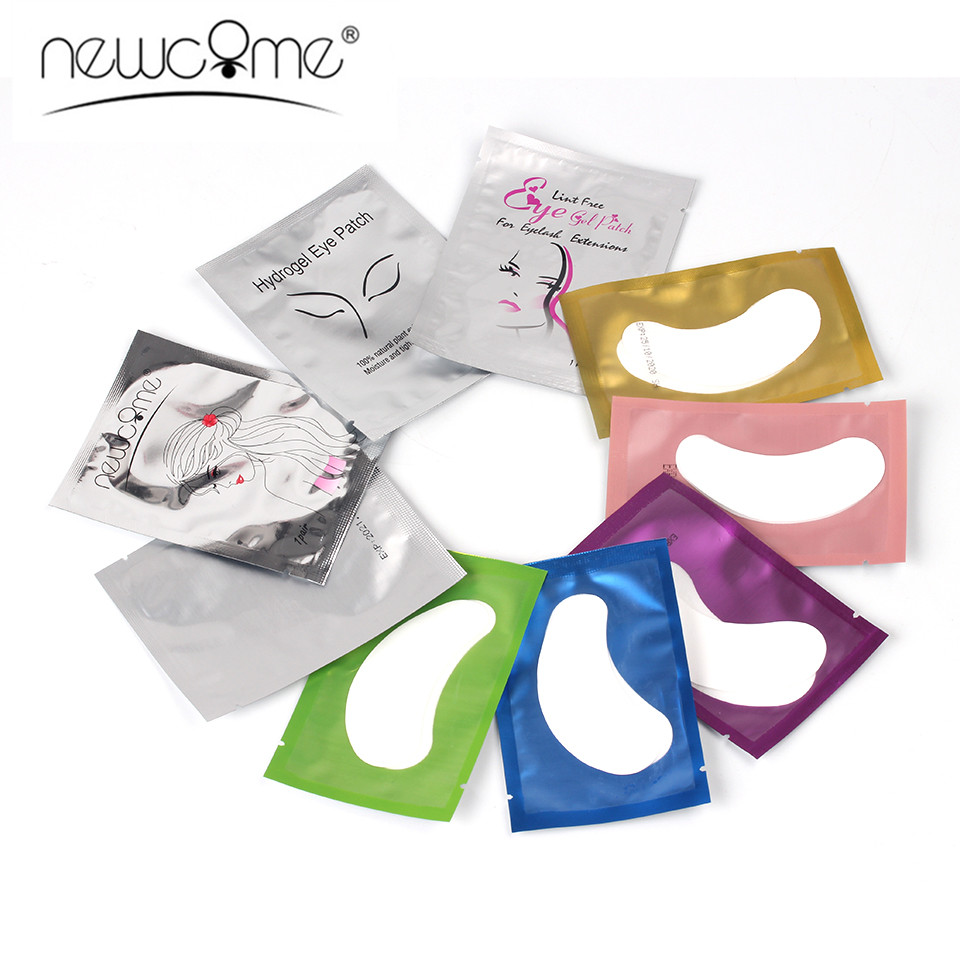 NEWCOME Eyelash Patches Pad Under Eye Pads Lashes Eyelash Extension Paper Patches Eye Tips Stickers Wraps Makeup Tools