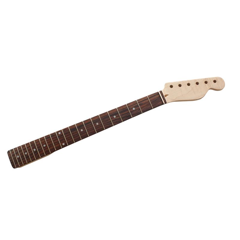 22 Frets Maple Guitar Neck Rosewood Fingerboard for Fender Tele Replacement fender fender squier affinity series telecaster® rosewood fingerboard race red