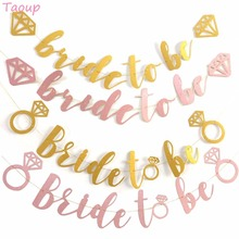 Taoup Team Bride Banners Bachelorette Hen Party to Bridal Supplies Flags and Wedding Love Favors DIY