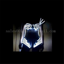 New 2015 Fashion Luminous Ds Costumes Women Nightclub Bar Led Light Up Sexy Lady Halloween Dress Suit Party Free Shipping