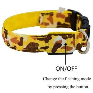 Image 4 - Led 개 목걸이 빛나는 애완 동물 제품 안전 위장 세련 된 깜박이 글로우 목걸이 애완 동물 액세서리