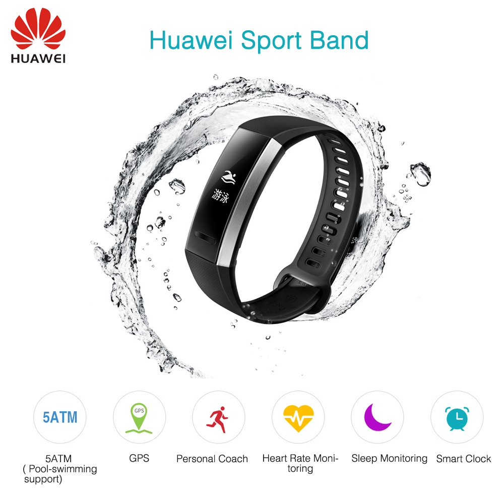 Hot Sale New Original Huawei Sport Band 2 pro B29 B19 with GPS for Swimming Wristband