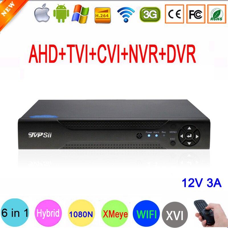 1080 P/960 P/720 P/960 H CCTV Caméra XMeye Hi3521A 16 Canal 16CH 1080N 6 dans 1 Hybride Wifi XVI TVi CVI NVR AHD DVR Enregistreur Vidéo