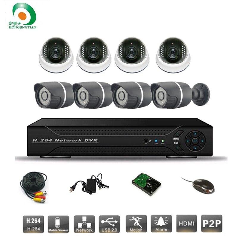 8ch CCTV Системы sony 700TVL купола и пуля ИК камеры безопасности Видео Системы сети P2P облако HDMI D1 DVR Регистраторы комплект видеонаблюдения сист