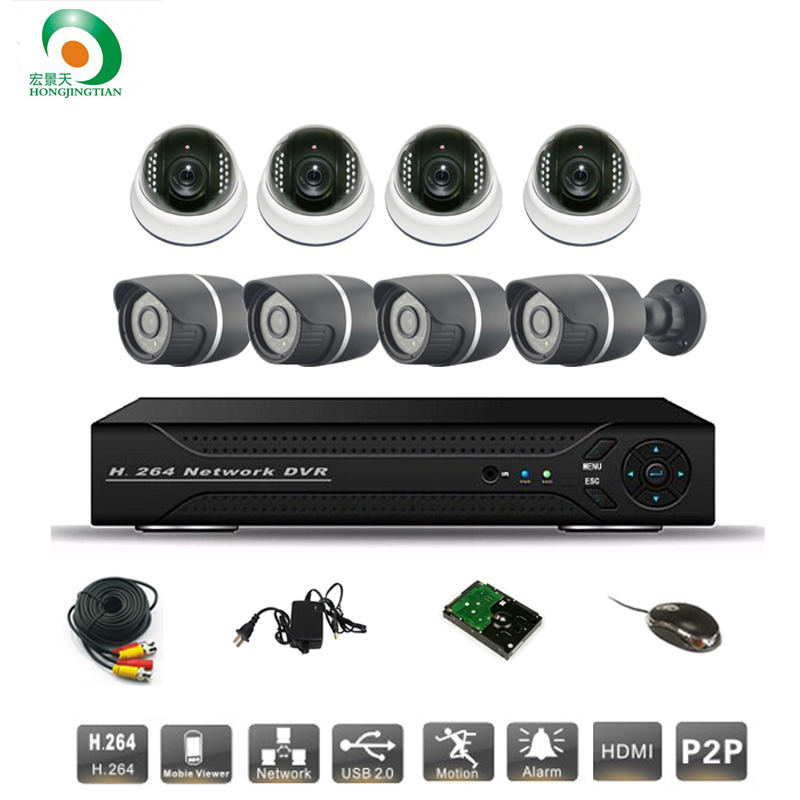 8ch CCTV System Sony 700TVL Dome&bullet IR Cameras Security Video System Network P2P Cloud HDMI D1 DVR Recorder CCTV kit Syste 8ch ahd 960h d1 recording cctv standalone hybrid dvr recorder 8ch 700tvl color cmos ir weatherproof indoor dome cameras