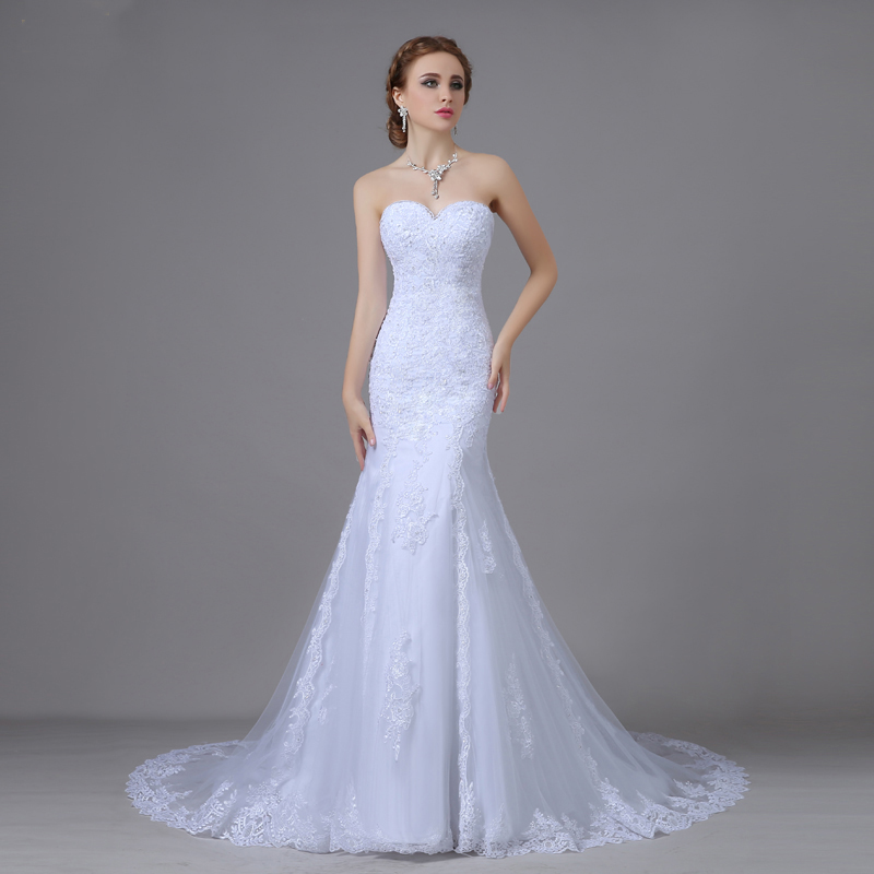 Risque Wedding Dress Photos: Wintty 2017 Sexy Mermaid Wedding Dresses With Long Train