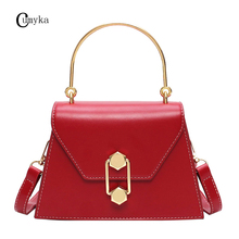 CUMYKA New Small Fashion Women Shoulder Bag T-shaped Casual Handbag PU Flap Diagonal Ladies Bags Crossbody Soft Leather Mini