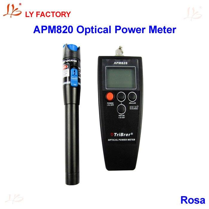 !!! Handheld LCD Tribrer APM820(-70dBm~+8 dBm) Fiber Optical Power Meter Tester Visual Fault Locator 1mW 5KM duplo dbm 350